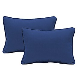 Arden Selections™ Lapis Oblong Indoor/Outdoor Lumbar Pillows in Blue (Set of 2)