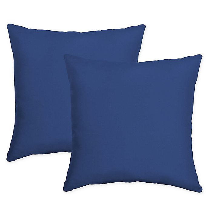 Arden Selections Lapis Square Indoor Outdoor Throw Pillows In Blue