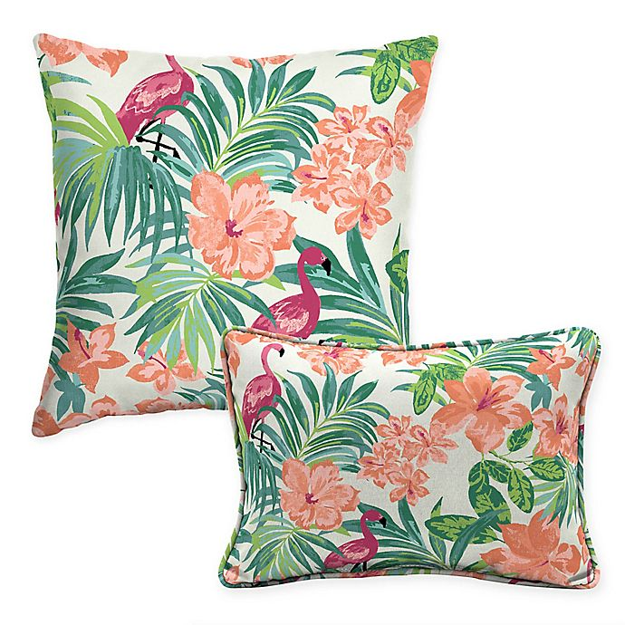 Selections By Arden Luau Flamingo Outdoor Pillow Bed Bath Beyond