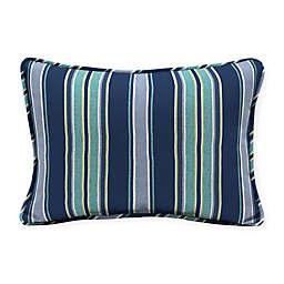 Arden Selections™ Aurora Stripe Indoor/Outdoor Oblong Lumbar Pillows in Blue (Set of 2)