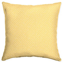 Arden Selections Shirt Texture Square Throw Pillows in Yellow (Set of 2)