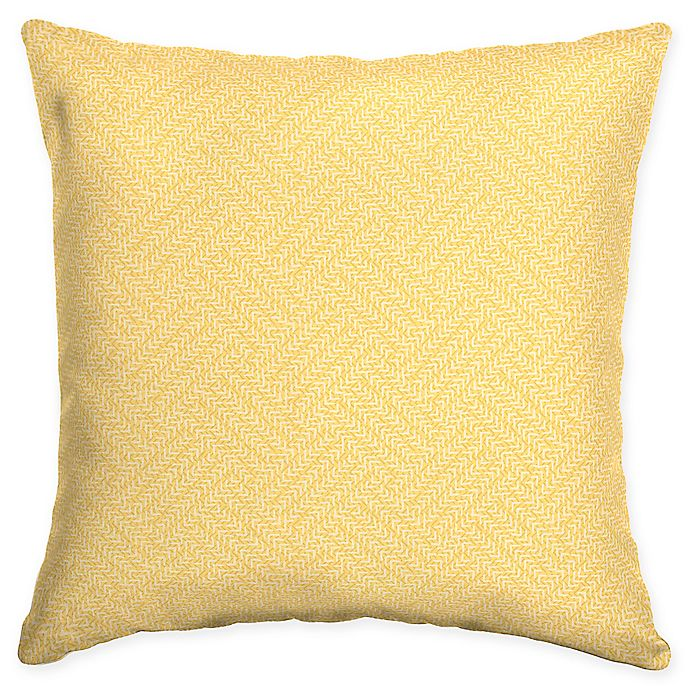 Alternate image 1 for Arden Selections Shirt Texture Square Throw Pillows in Yellow (Set of 2)