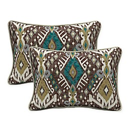 Selections by Arden Tenganan Oversized Lumbar Pillows in Brown (Set of 2)