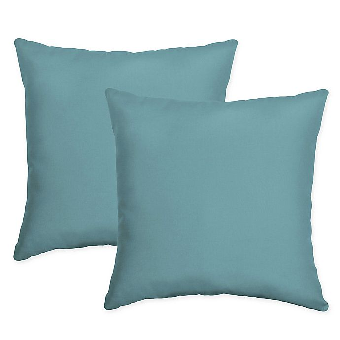 Alternate image 1 for Arden Selections™ Surf Square Indoor/Outdoor Throw Pillows in Blue (Set of 2)