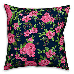 Designs Direct Rose Garden Square Outdoor Throw Pillow in Pink/Blue