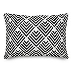 Designs Direct Geometric Arrow Oblong Outdoor Throw Pillow in Black/White