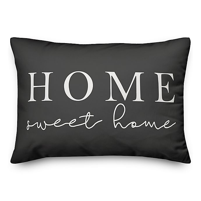 Designs Direct Home Sweet Home Oblong Outdoor Throw Pillow In Greywhite Bed Bath Beyond