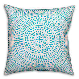 Designs Direct Circle Indoor/Outdoor Square Throw Pillow in Blue