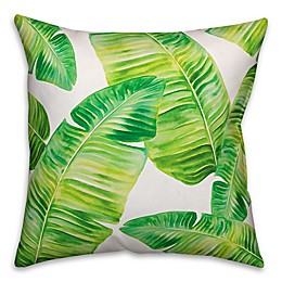 Designs Direct Painted Palms Indoor/Outdoor Square Throw Pillow in Green