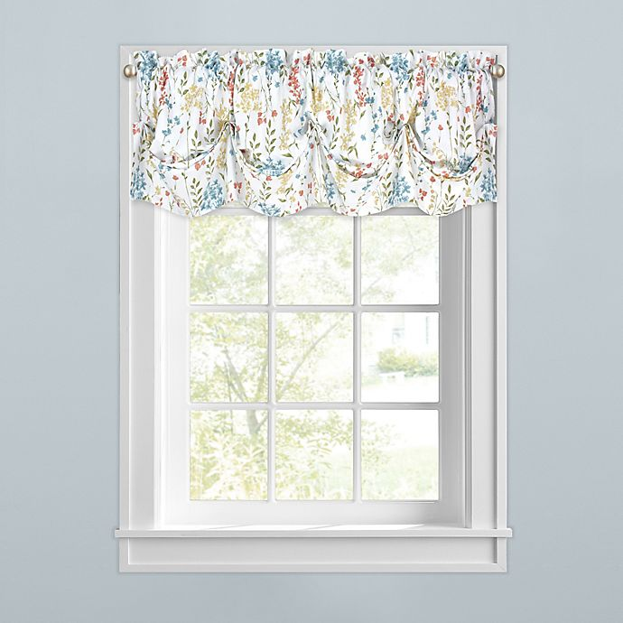 Alternate image 1 for Meadow Blooms Kitchen Window Tuck Valance