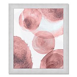 Circles in Rose Framed Wall Art