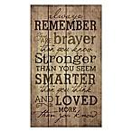 """Always Remember"" 24-Inch x 14-Inch Wall Art"