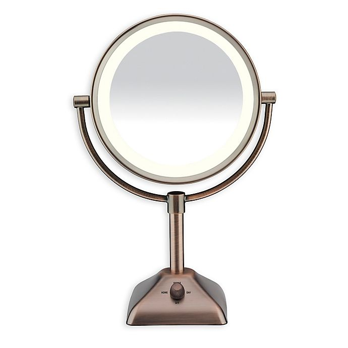 Alternate image 1 for Conair® Variable Lighted 1X/10X Mirror