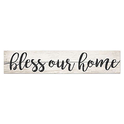 """Bless Our Home"" 7-Inch x 35.88-Inch Wall Art"