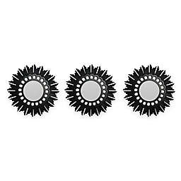 Northlight® Floral Sunburst Wall Mirrors in Bronze/Black (Set of 3)