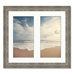 Beach Diptych 25-Inch Square Framed Wall Art