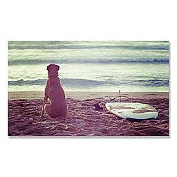 Rosco at the Beach 24-Inch x 14-Inch Canvas Wall Art