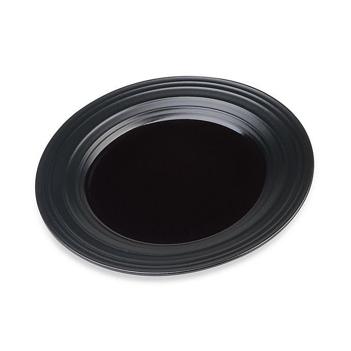 Alternate image 1 for Mikasa® Swirl Salad Plate in Black