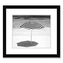 Beach Umbrella 22-Inch Square Framed Wall Art