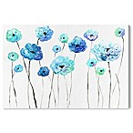 Oliver Gal™ 15-Inch x 10-Inch Cool Toned Florals Fine Art Canvas Print