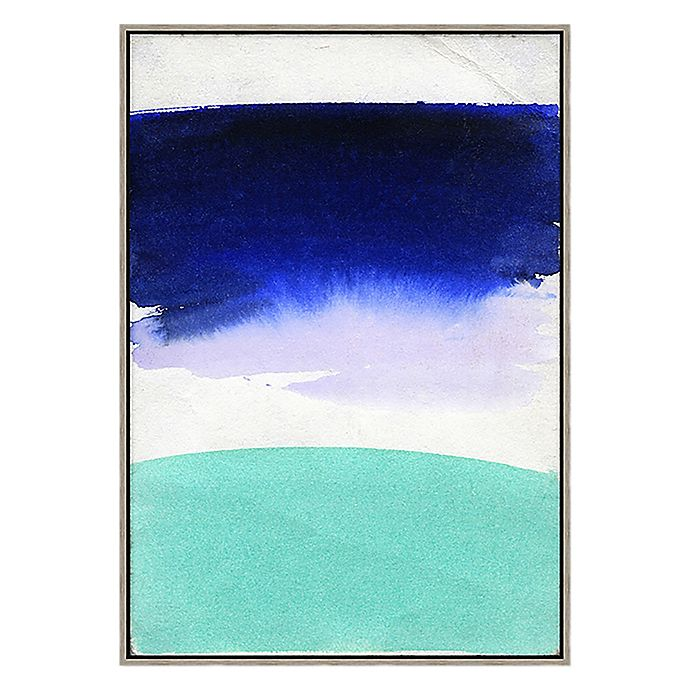 Alternate image 1 for Abstract Moods 33.75-Inch x 23.75-Inch Framed Canvas Wall Art in Blue/Teal