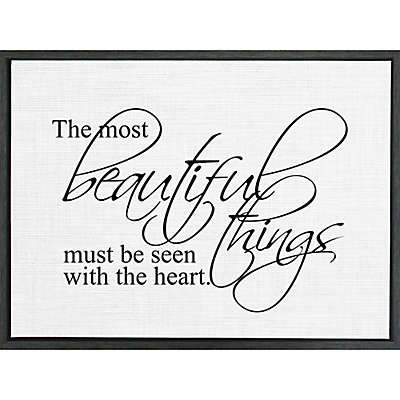 """Second Nature by Hand """"Art Most Beautiful"""" 18-Inch x 24-Inch Framed Wall Art"""