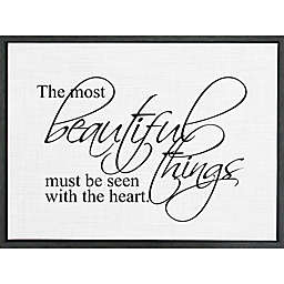 "Second Nature by Hand ""Art Most Beautiful"" 18-Inch x 24-Inch Framed Wall Art"
