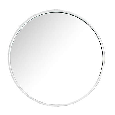 James Martin Furniture Montreal 28-Inch Round Mirror in White