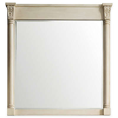 James Martin Furniture Newport 42-Inch Square Wall Mirror in Vintage Vanilla