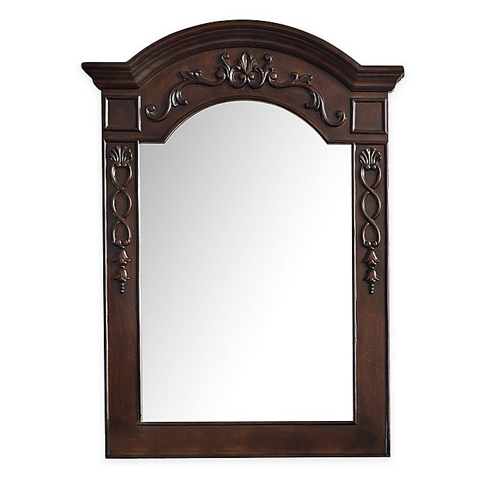 Alternate image 1 for James Martin Furniture 29-Inch x 40-Inch European Traditions Mirror in Mahogany