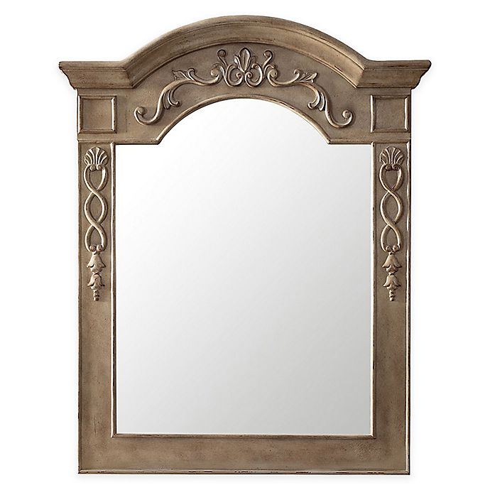 Alternate image 1 for James Martin Furniture 32-Inch x 40-Inch European Traditions Mirror in Empire Grey