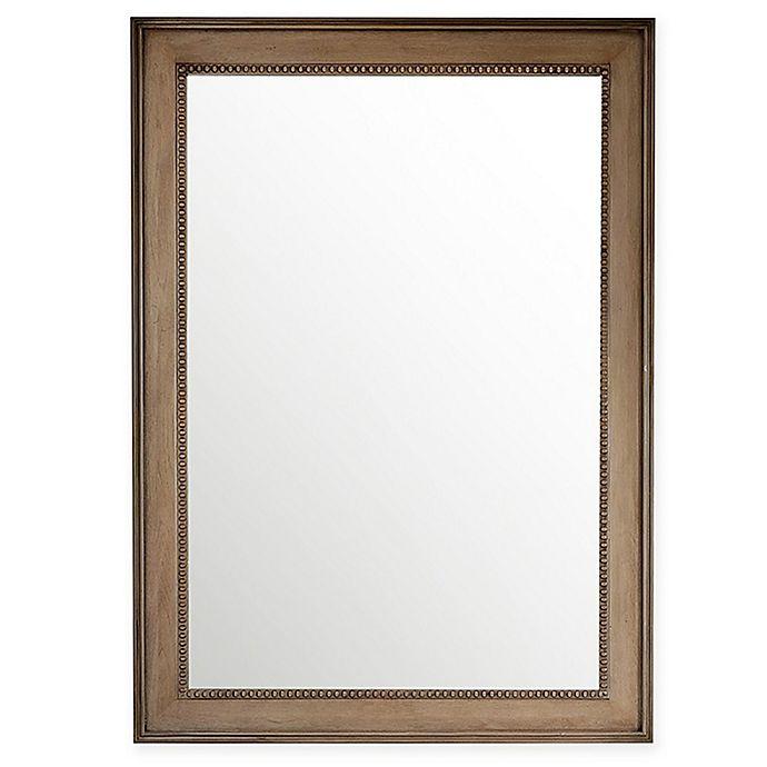 Alternate image 1 for James Martin Furniture Bristol 29-Inch x 40-Inch Mirror in White Washed Walnut