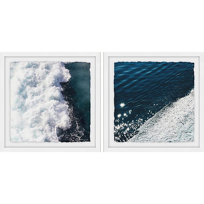 Alternate image 1 for Marmont Hill Midnight Blue Wave II Framed Wall Art (Set of 2)