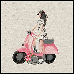 Marmont Hill Pink Scooter II Framed Wall Art