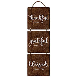 Sweet Bird & Co™ Thankful Metal Wall Art