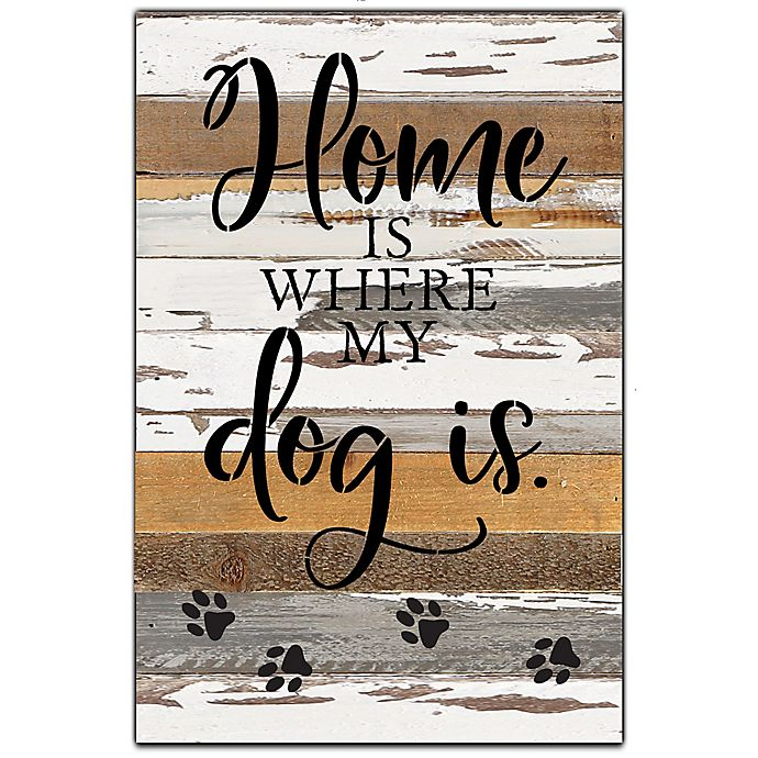 Alternate image 1 for Sweet Bird & Co™ Dog Is Reclaimed Wood Wall Art