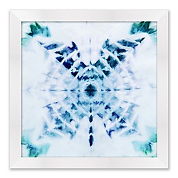 Dyed Textile 19-Inch Square Framed Wall Art
