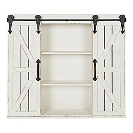 Kate and Laurel® Cates Wood Wall Cabinet in White