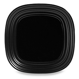 Mikasa® Swirl Square 10-3/4-Inch Dinner Plate in Black