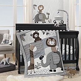 Lambs & Ivy® Urban Jungle 4-Piece Crib Bedding Set in Grey/White