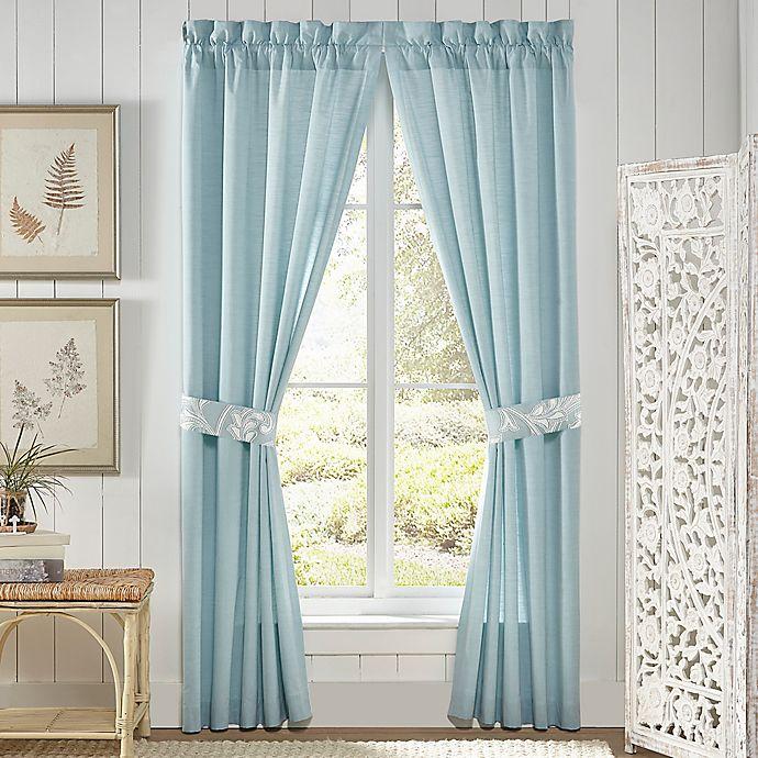Alternate image 1 for Croscill® Willa 84-Inch Rod Pocket Window Curtain Panel Pair in Soft Aqua