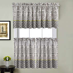 Calais Kitchen Curtain Tier Pair, Valance and Swag