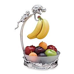 Arthur Court Designs Monkey Banana Holder with Fruit Bowl