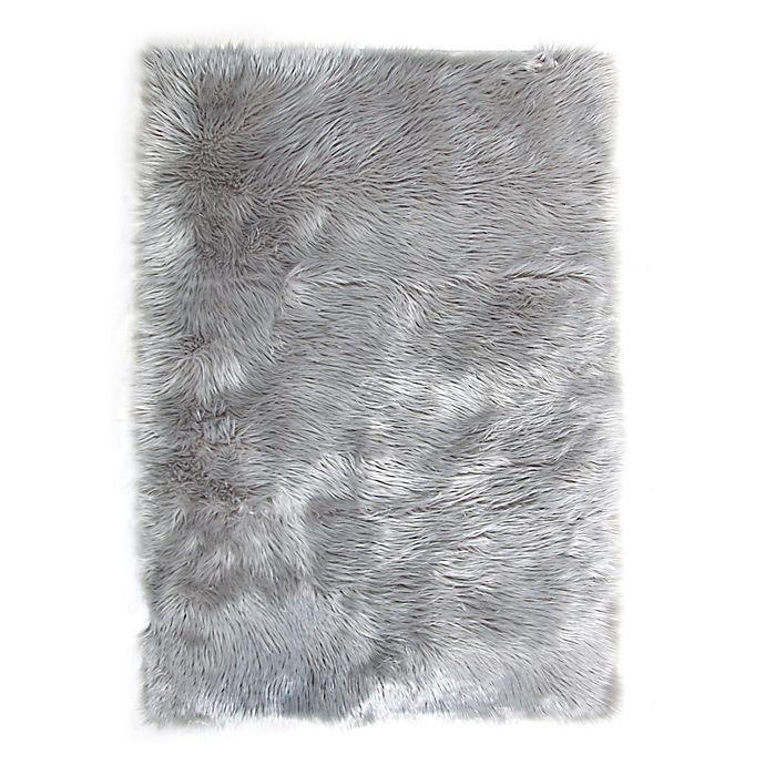 Alternate image 1 for Tadpoles™ Faux Fur Shag Area Rug