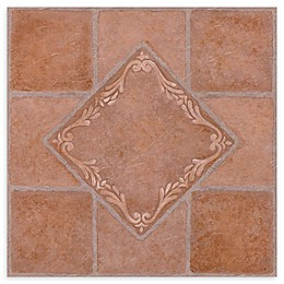 Achim Nexus 20-Pack 12-Inch South West Ceramic Floor Tiles in Red