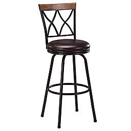 Modern Farmhouse Double-X Back Adjustable Bar Stool