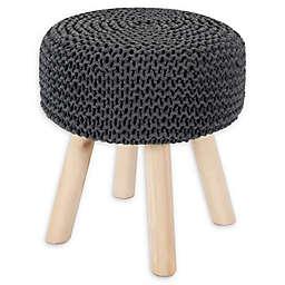 UGG® 15-Inch Knit Ottoman in Grey