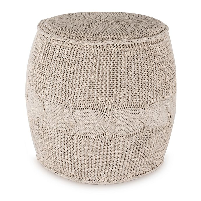 Alternate image 1 for UGG® Cable Knit Drum in Ivory