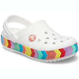 Crocs™ Crocband™ Kids Chevron Beaded Clog in White