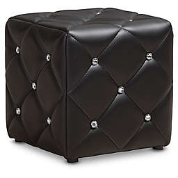 Baxton Studio Stacey Faux Leather Ottoman
